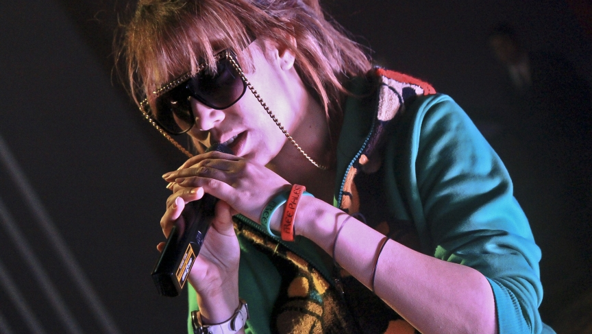 """Soultana (Youssra Oakuf), 27, was the first recognized female rapper in Morocco and is still one of the only women on stage. Soultana rose to international fame first as a member of the band, Tigresse Flow. Then, again, as a solo- artist in 2011 with her first single """"Sawt Nssa"""", or """"The Voice of Women,"""" a rap against street harassment of Moroccan women. """"The guy he can't, he can't, feel what I feel when I'm walking on the street. He can't feel that."""" Credit: Shalea Harris"""